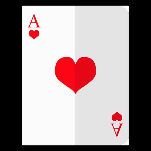 Icono de tarjeta de as de corazones Transparent PNG