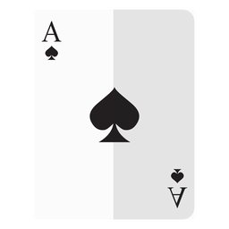 Ace of spades card icon