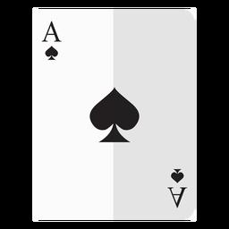 Icono de tarjeta de as de espadas