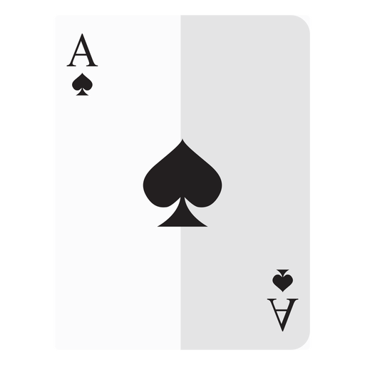 Ace of spades card icon Transparent PNG