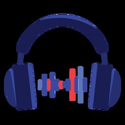 Ícone de fones de ouvido de áudio