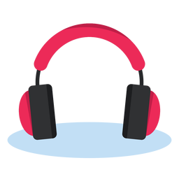 Música de ícone de fones de ouvido de áudio
