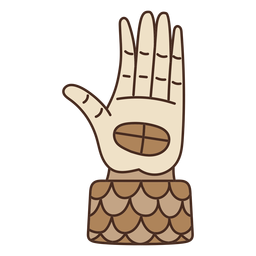 Aztec hand cartoon