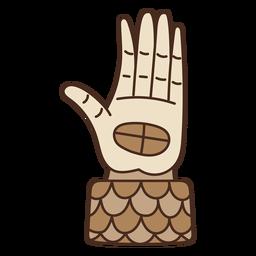 Desenho de mão asteca