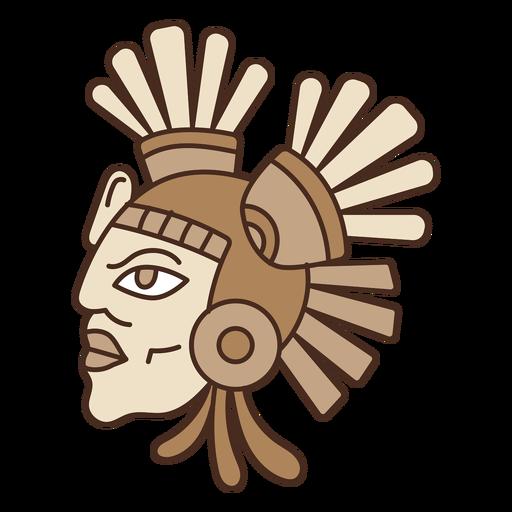 Dibujos animados de máscara de cabeza azteca Transparent PNG