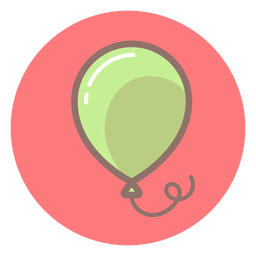 Baby balloon circle icon