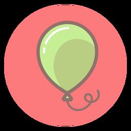Icono de círculo de globo de bebé