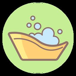 Icono de círculo de bañera de bebé
