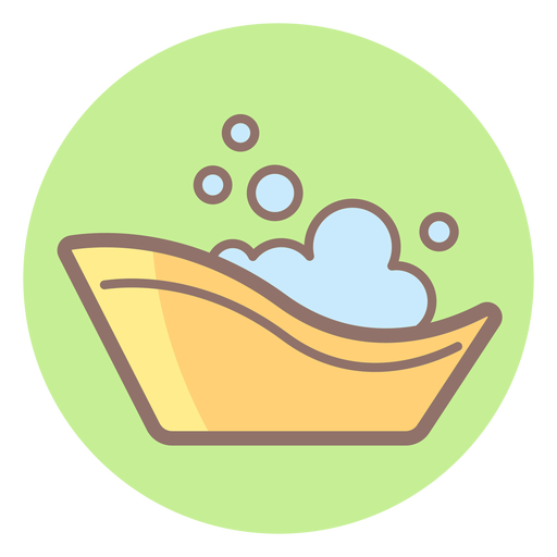 Baby bath tub circle icon Transparent PNG