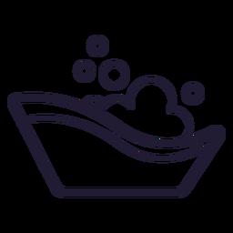 Icono de trazo de bañera de bebé