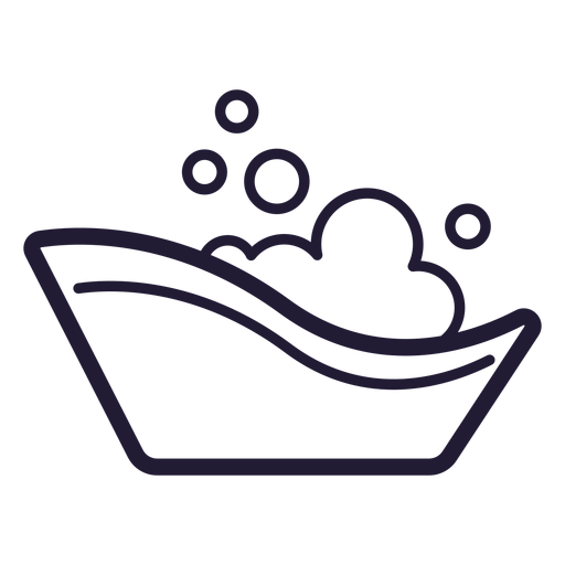 Baby bath tub stroke icon Transparent PNG
