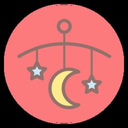 Icono de círculo de campana de cama de bebé