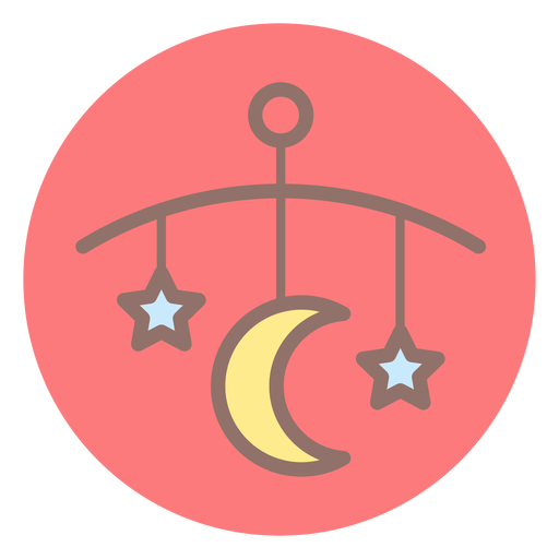 Baby bed bell circle icon Transparent PNG