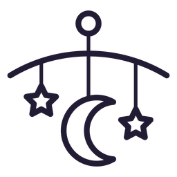 Baby Bett Glocke Schlaganfall-Symbol