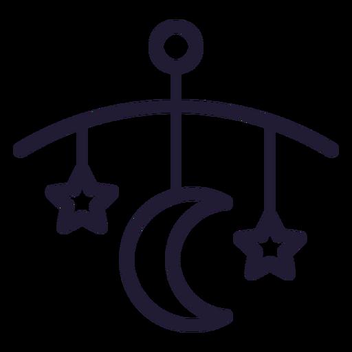 Cama de bebé campana icono de trazo Transparent PNG