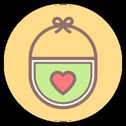 Baby bib circle icon