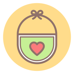Icono de círculo de babero de bebé