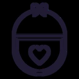 Icono de trazo de babero de bebé