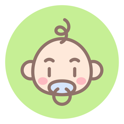 Baby boy head circle icon Transparent PNG