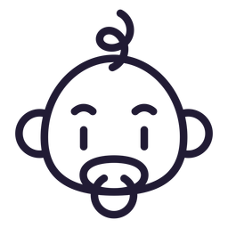 Icono de golpe de cabeza de bebé niño