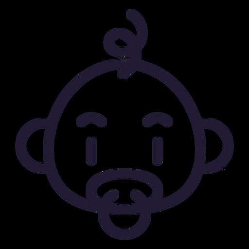 Icono de golpe de cabeza de bebé niño Transparent PNG