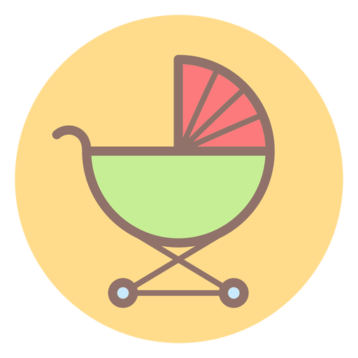 Baby carriage circle icon Transparent PNG