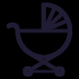 Icono de trazo de carro de bebé