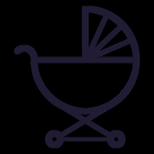 Icono de trazo de carro de bebé Transparent PNG