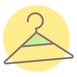 Baby clothes hanger circle icon