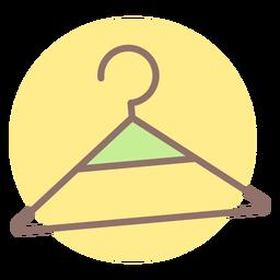 Baby clothes hanger circle icon