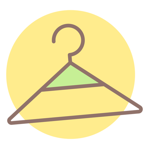 Baby clothes hanger circle icon Transparent PNG