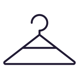 Baby clothes hanger stroke icon