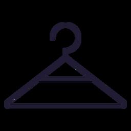Icono de trazo de percha de ropa de bebé