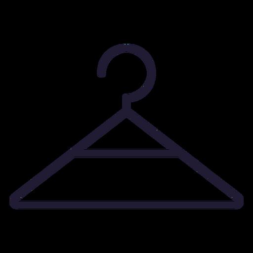 Baby clothes hanger stroke icon