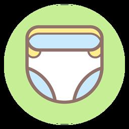 Icono de círculo de pañal de bebé