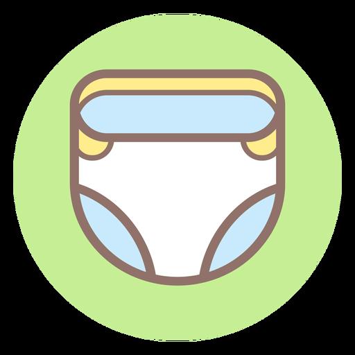 Ícone de círculo de fralda de bebê Transparent PNG