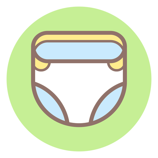 Baby diaper circle icon Transparent PNG