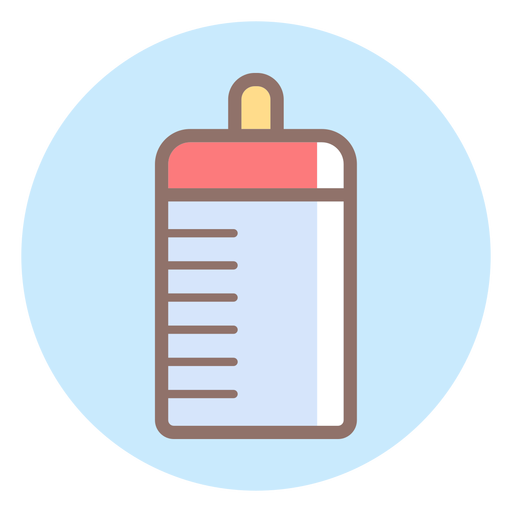 Baby feeding bottle circle icon Transparent PNG