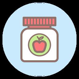 Icono de círculo de tarro de comida de bebé