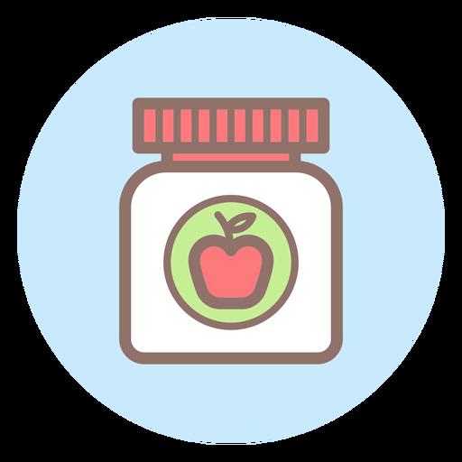 Ícone de círculo de comida de bebê jar Transparent PNG