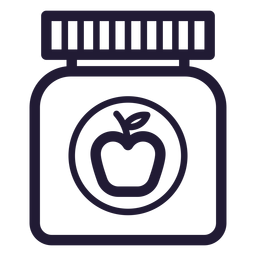 Baby food jar stroke icon