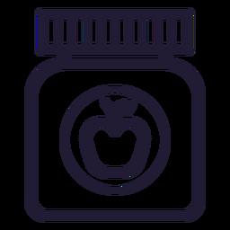 Icono de trazo de tarro de comida de bebé