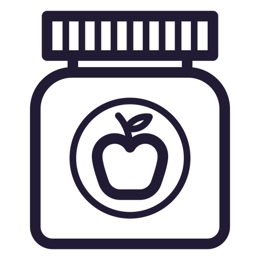 Baby food jar stroke icon Transparent PNG
