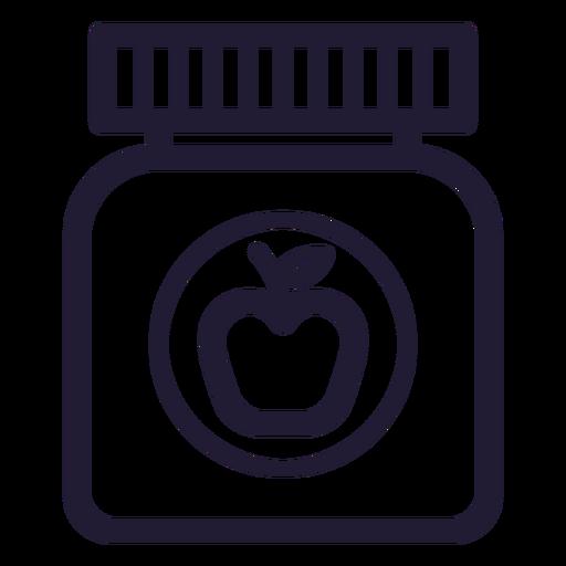 Icono de trazo de tarro de comida de bebé Transparent PNG