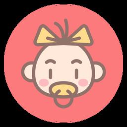 Icono de círculo de cabeza de bebé