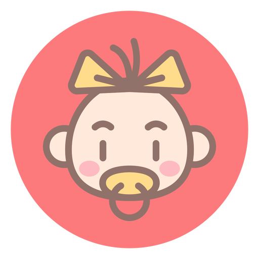 Baby girl head circle icon Transparent PNG