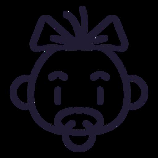 Icono de golpe de cabeza de niña bebé Transparent PNG