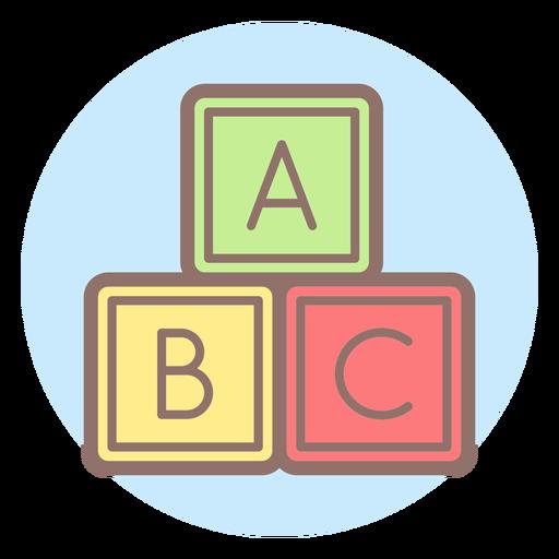 Icono de círculo de bebé letra cubos Transparent PNG