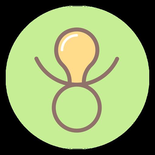 Icono de círculo chupete de bebé Transparent PNG