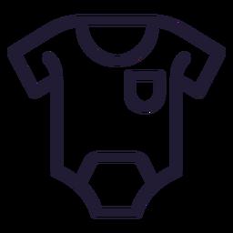 Icono de trazo de mameluco de bebé